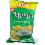 Чіпси зі смаком сметана зелень Мачо 150г
