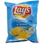 Chips Lay's potato with greens 26g packaged Russia
