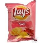 Чіпси картопляні Lay's зі смаком крабу 26г