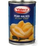 Fruit pear Videka half 425g can Spain