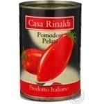 Томаты Casa Rinaldi очищенные в собственном соку 400г