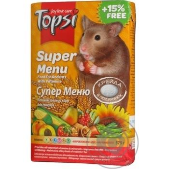 Topsi Super Menu Food for Rodents 575g - buy, prices for Novus - image 5