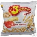 Сухари Три корочки пшеничный со вкусом сыра 100г Украина