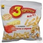 Сухари Три корочки пшеничный со вкусом сыра 40г Украина