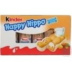 Сладости Киндер Хеппи хиппо молочно-ореховый 105г Германия