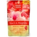 Мыло жидкое Fresh juice персик и магнолия дой-пак 460мл - купить, цены на Novus - фото 3