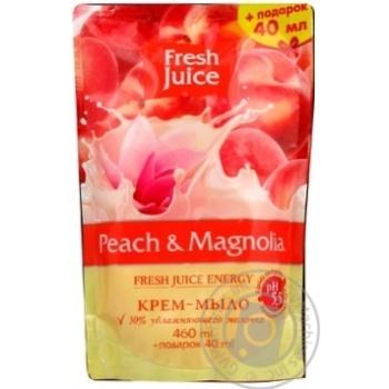 Fresh juice Liquid soap peach magnolia do-pack 460ml - buy, prices for Novus - image 3