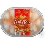 Ice-cream Azhur Ajur peach with filler 500g plastic packaging Ukraine