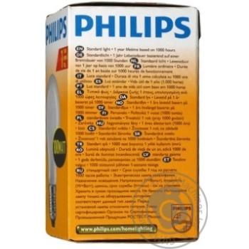 Bulb Philips e27 100w 1000hours 230v - buy, prices for Novus - image 3