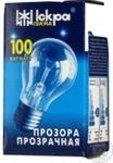 Лампа електрична прозора Іскра А55-230в 100вт Е27 Т