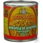 Vegetables corn Piryatin sweet 425g can Ukraine
