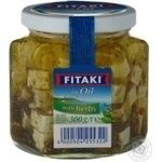 Soft ripened cheese cubes in oil with herbs Kaserei Champignon Fitaki 45% 300g Germany