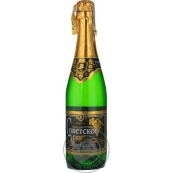 Игристое шампанское мускат Ольвия полусладкое 12% 750мл Украина
