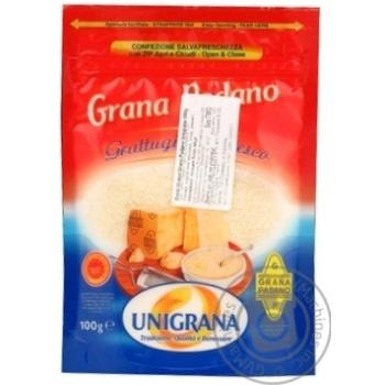 Сыр грана падано Униграна твердый 32% 100г Италия