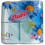 Туалетная бумага Диво двухслойные бирюза 4шт