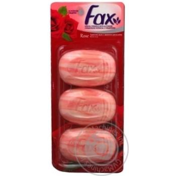 Мыло туалетное Fax Роза 3х115г