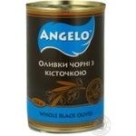 olive Angelo black with bone 300g can Spain