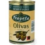 Оливки Fragata без кісточки залізна банка ключ 300мл