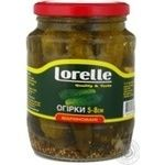 Vegetables cucumber Lorelly pickled 720g glass jar India