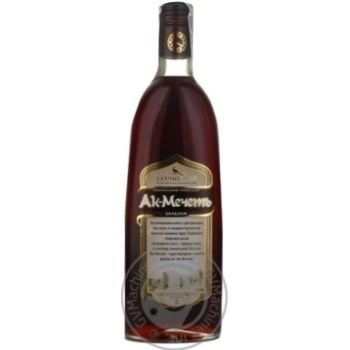Balsam Bakhchysaray Ak-mechet 40% 500ml glass bottle Ukraine
