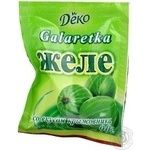 Jelly Deko with goosberry jelly for desserts 90g Ukraine