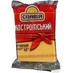 Сир Славія Костромський твердий 45% 230г Україна