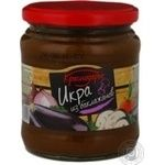 Caviar Krasnodarye eggplant canned 450g glass jar Russia