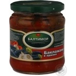 Vegetables eggplant Baltimor canned 430g glass jar Russia