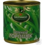 Vegetables pea Baltimor green canned 400g can Russia