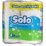 Папiр туалетний Solo Ультра 4шт