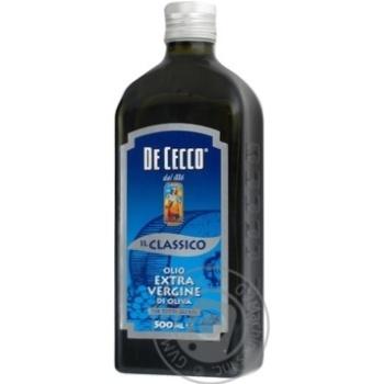 Масло оливковое De Cecco Classico extra vergine 0,5л
