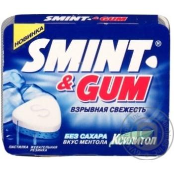 Гумка жувальна Smint Ментол пластинки 9,6г