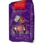 Шоколадні цукерки Баренс молочний шоколад з молочним кремом 150г