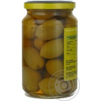 Оливки зеленые St.Michele с косточкой 355г - купить, цены на Novus - фото 7
