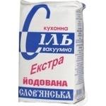 Salt Slavyanskaya Extra iodinated 1000g Ukraine