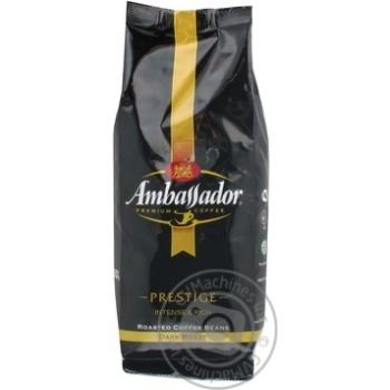 Кофе Амбассадор Престиж натуральный темнообжаренный в зернах 250г Россия
