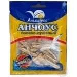 Snack anchovy Albatros with anchovy salted dried 18g Ukraine