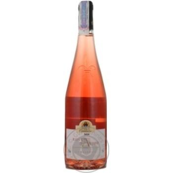 Вино рожеве Маркіз де Гулен Розе д'Анжу виноградне сухе 11% скляна пляшка 750мл Франція