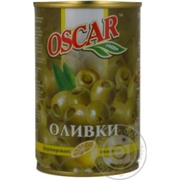 Оливки зеленые Oscar с лимоном 300мл