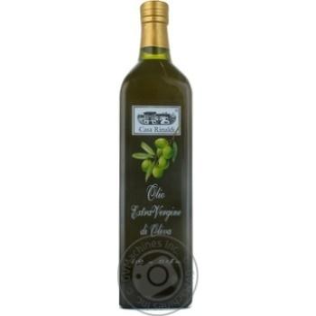 Масло Casa Rinaldi оливковое Экстра Вирджин первого холодного отжима нефильтрованное 1л - купить, цены на Novus - фото 1