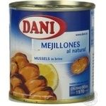 Seafood mussles Dani pickled 148g can