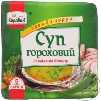 Суп гороховий зі смаком бекону Караван 160г - купить, цены на Novus - фото 5