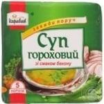 Суп гороховий зі смаком бекону Караван 160г