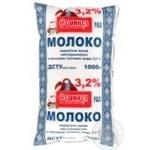 Молоко Станица пастеризованное 3.2% 1000мл полиэтиленовый пакет Украина