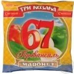 Mayonnaise Tri kozaka Provansal 67% 380g Ukraine