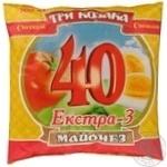 Mayonnaise Tri kozaka Extra 40% 380g Ukraine