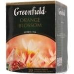 Трав'яний чай Грінфілд Оранж Блоссом з шипшиною яблуком цедрою і ароматом цитрусових в пакетиках 20х1.8г Росія