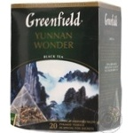 Black Chinese pekoe tea Greenfield Yunnan Wonder 20х2g teabags Russia