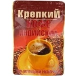 Natural instant coffee Krepkiy 75g Ukraine