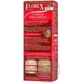 Крем-краска Florex для волос цвет бежевая жемчужина - купить, цены на Ашан - фото 2
